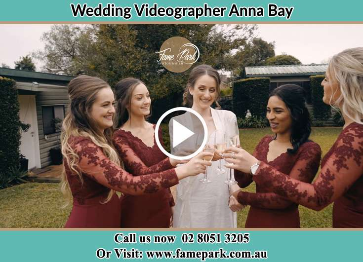 Bride and her secondary sponsors Anna Bay NSW 2316