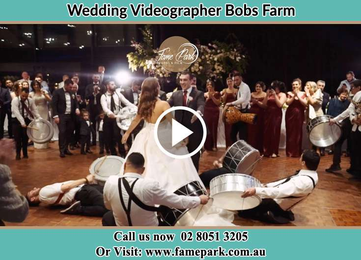 Bride and Groom at the dance floor Bobs Farm NSW 2316