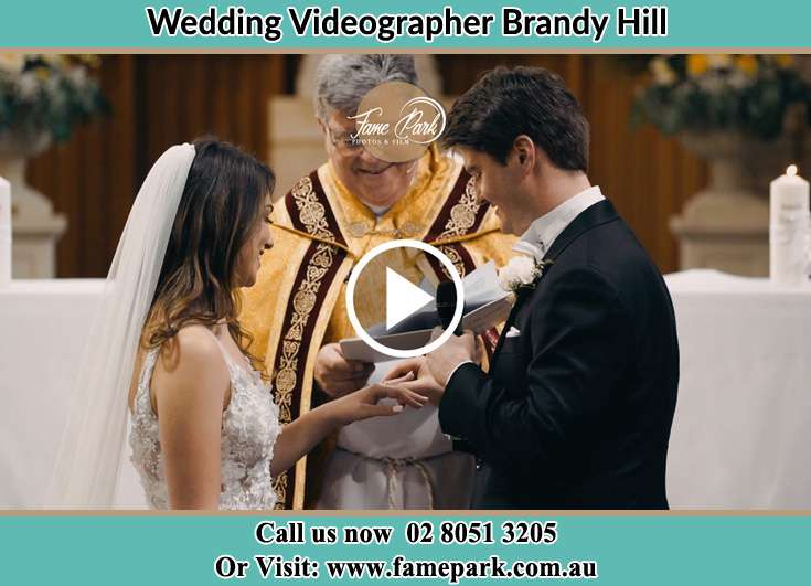 During the wedding ceremony Brandy Hill NSW 2324