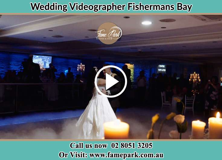 The newlyweds dancing Fishermans Bay NSW 2316