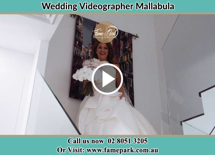 The Bride walking downstairs Mallabula NSW 2319