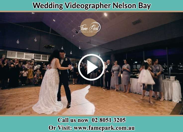 The newlyweds dancing Nelson Bay NSW 2315
