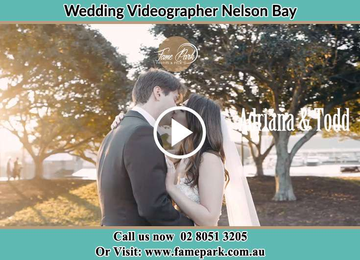 The new couple kissing at the yard Nelson Bay NSW 2315