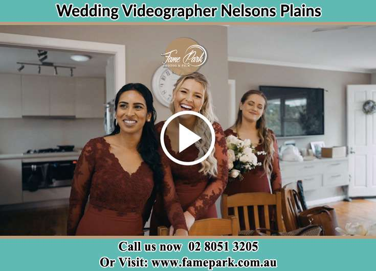 The bridesmaids smiling Nelsons Plains NSW 2324