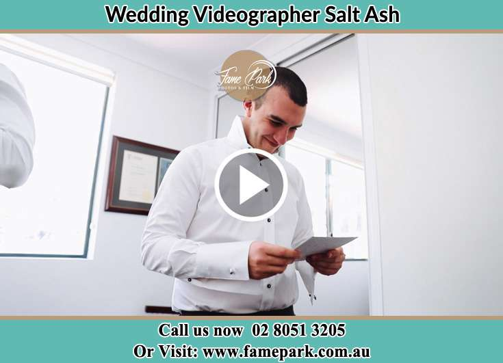 The Groom reading a note Salt Ash NSW 2318