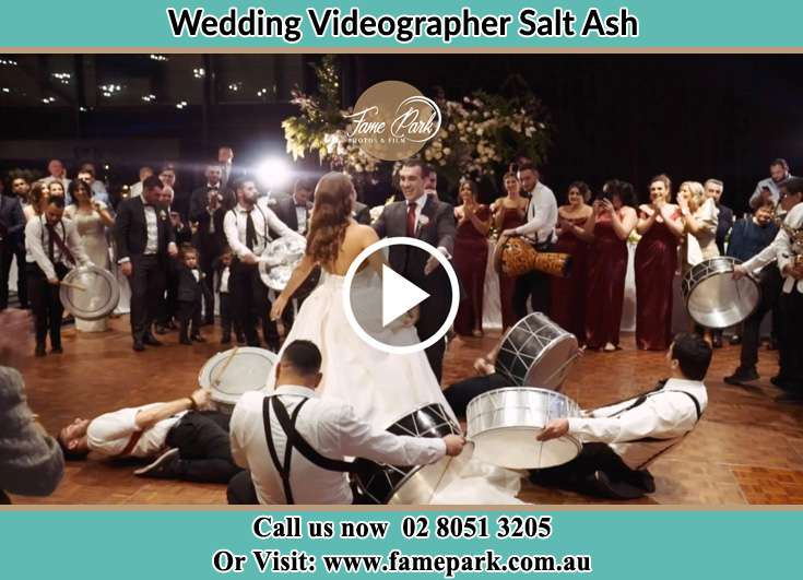 Bride and Groom at the dance floor Salt Ash NSW 2318