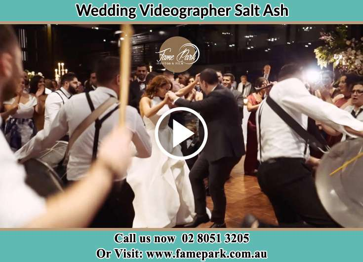 The newlyweds dancing Salt Ash NSW 2318
