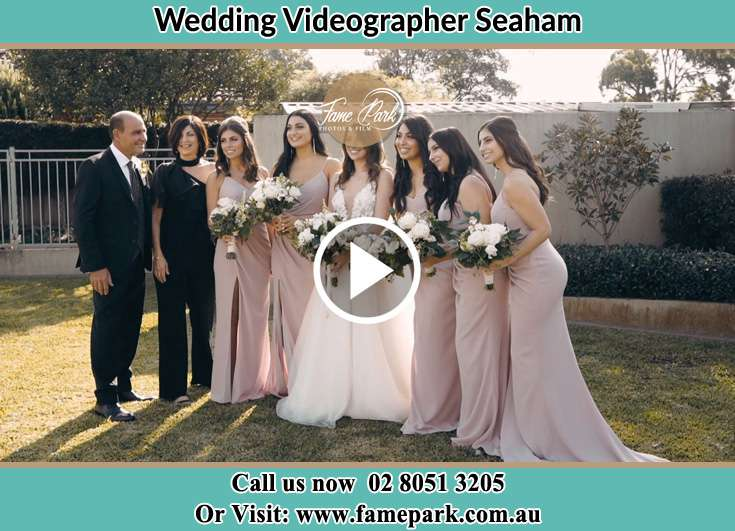 Bride and her secondary sponsors Seaham NSW 2324