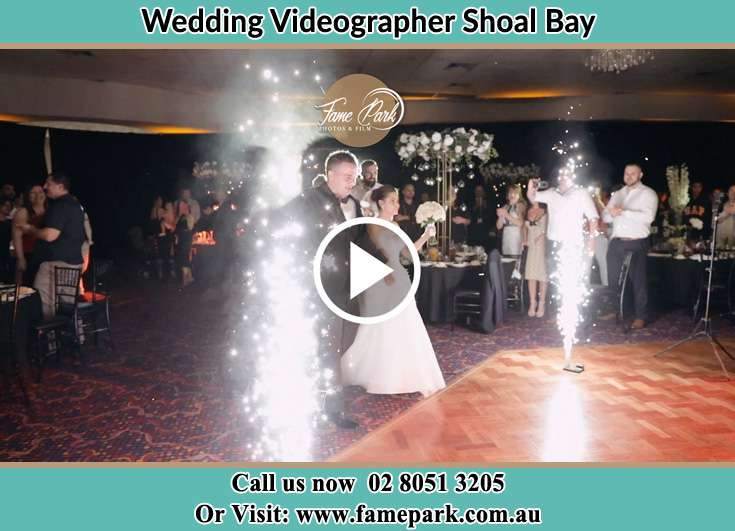 Bride and Groom at the dance floor Shoal Bay NSW 2315