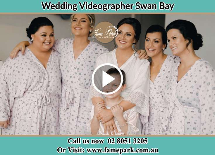 Bride and her secondary sponsors Swan Bay NSW 2324
