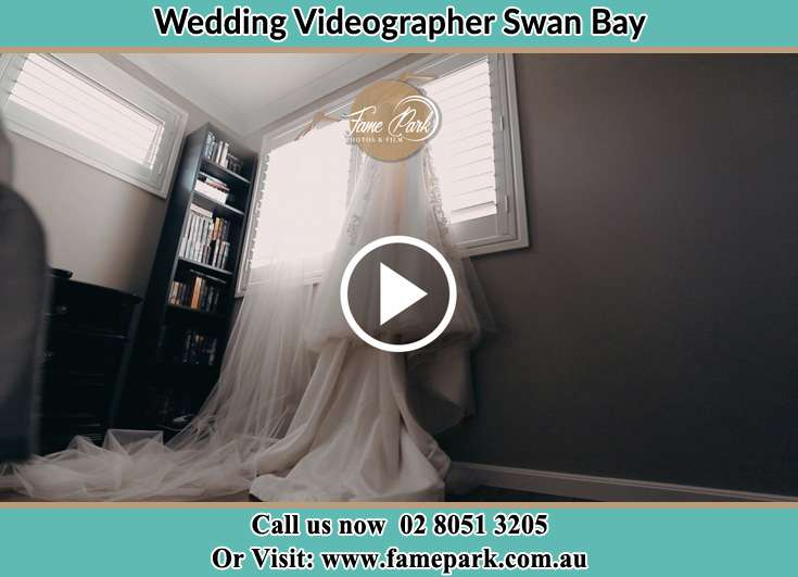 The wedding gown at the window Swan Bay NSW 2324