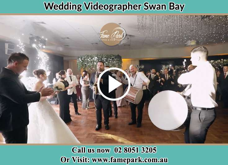 Bride and Groom at the dance floor Swan Bay NSW 2324