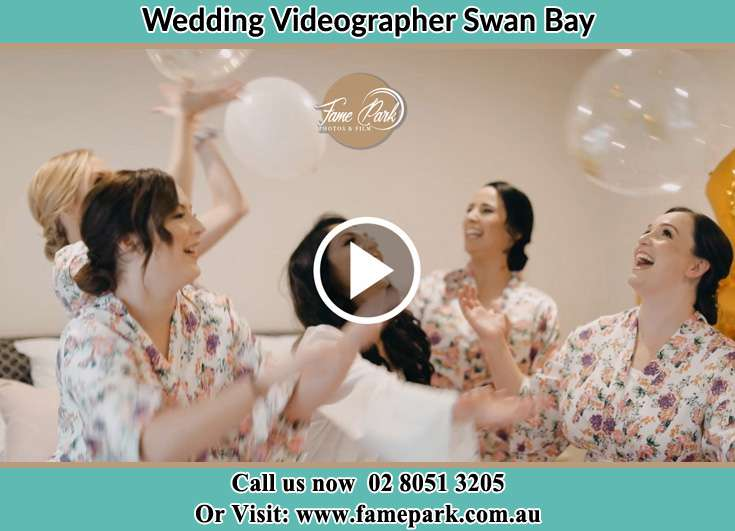 Bride and her secondary sponsors plating balloons Swan Bay NSW 2324