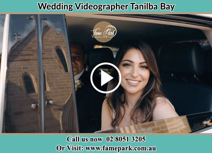 The Bride inside the bridal car Tanilba Bay NSW 2319