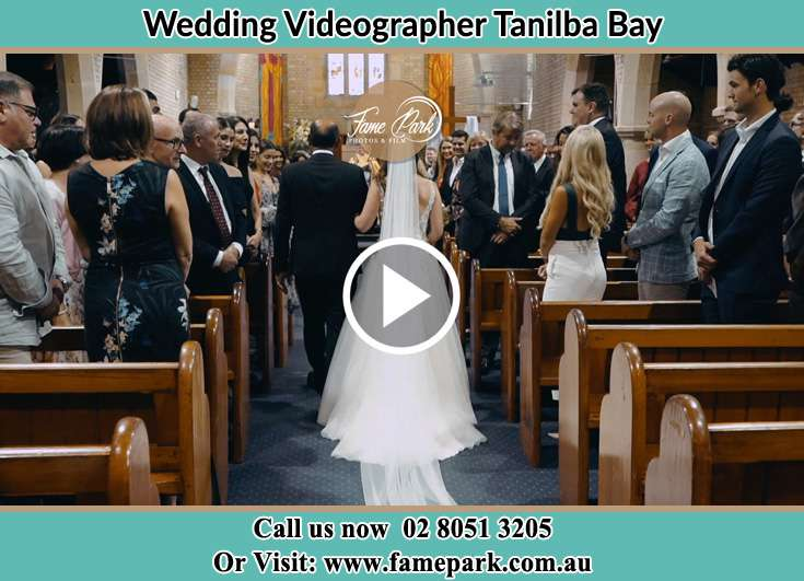 The Bride walking down the aisle with her father Taylors Beach NSW 2316