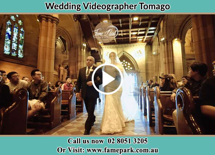 The Bride walking down the aisle with her father Tomago NSW 2322