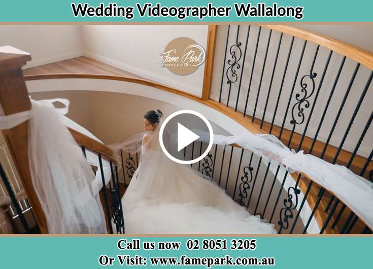 The Bride walking downstairs Wallalong NSW 2320