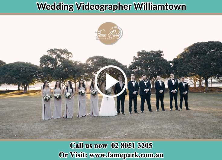 The Bride and the Groom with the entourage Williamtown NSW 2318