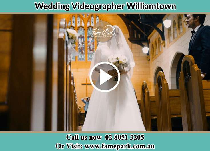 The Bride walking the aisle Williamtown NSW 2318