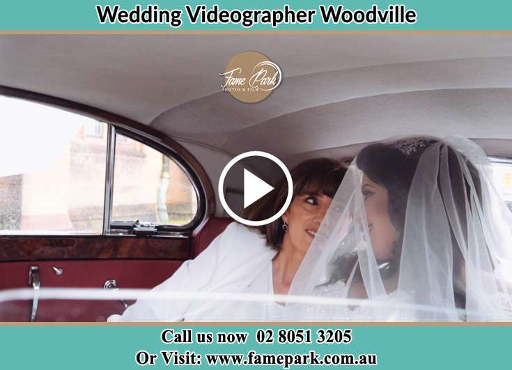 Bride and her mother inside the wedding car Woodville NSW 2321